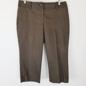 Ann Taylor Petite Capri Crop Pants 8P Embossed